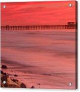Oceanside Pier Sunset 4 Acrylic Print