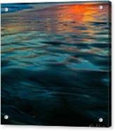 Oceanside Reflective Sunset Acrylic Print