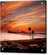 Oceanside Sunset 10 Acrylic Print by Larry Marshall
