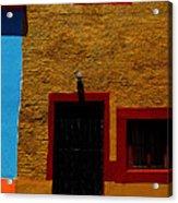 Ochre House With Blue Sky Acrylic Print