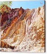 Ochre Pits Colours, West Mcdonald Ranges Acrylic Print