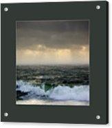 Ochre Sky's And Angry Seas 2 Acrylic Print