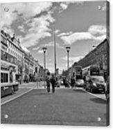 O'connell Street In Dublin Acrylic Print