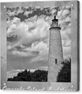 Ocracoke Island Lighthouse Poster Acrylic Print