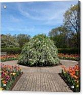 Octagon Garden At Cantigny Park Acrylic Print