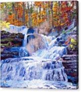 October Falls Acrylic Print