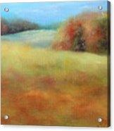 October Grazing Fields Acrylic Print