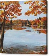 October Morn At Walden Pond Acrylic Print by Jack Skinner