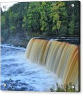 October Morning At Upper Tahquamenon Falls Acrylic Print