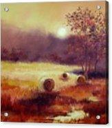 October Pasture Acrylic Print