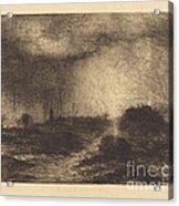 October Rain: Posuclos In The Guardarramas, Near Madrid Acrylic Print