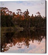 October Reflections On The River Acrylic Print
