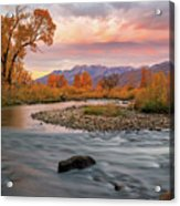 October Sunrise At The Provo River. Acrylic Print