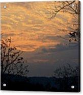 October Sunset Acrylic Print