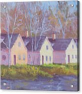 October's Light On Peanut Row Acrylic Print