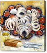 Octupus And Sea Urchins Dinner Acrylic Print