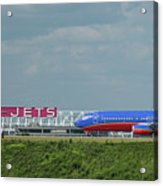 Odd Couple Delta Airlines Southwest Airlines Art Acrylic Print