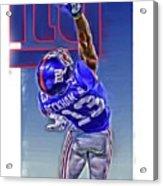 Odell Beckham Jr New York Giants Oil Art 2 Acrylic Print