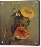 Odilon Redon - Vase With Poppy, Camomile And Bindweed Acrylic Print