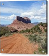 Off Road On The Red Rock Acrylic Print