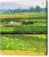 Off The Beaten Track Vietnam Viewed Through Train Window Filters  Acrylic Print
