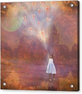 Off To Fairy Land - By Way Of Fairyloons Acrylic Print