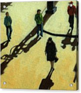 Off To Work Shadows - Painting Acrylic Print