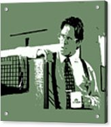 Office Space Bill Lumbergh Movie Quote Poster Series 002 Acrylic Print