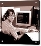 Office Space Michael Bolton Movie Quote Poster Series 004 Acrylic Print