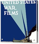 Official United States War Films Acrylic Print by War Is Hell Store
