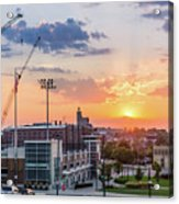 Ogden Hill Sunset Over Downtown Acrylic Print