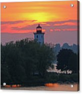 Ogdensburg Lighthouse At Sunset 6695 Acrylic Print
