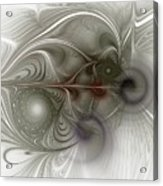 Oh That I Had Wings - Fractal Art Acrylic Print
