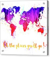 Oh The Places Acrylic Print