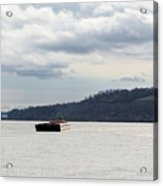 Ohio River Barge  Acrylic Print