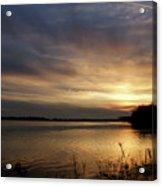 Ohio River Sunset Acrylic Print by Sandy Keeton