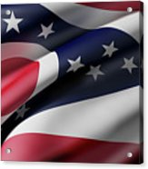 Ohio State Flag Acrylic Print