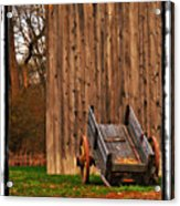 Ohio Wheelbarrel In Autumn Acrylic Print