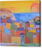 Oia Santorini Acrylic Print