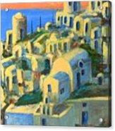 Oia. Santorini Acrylic Print