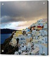 Oia Santorini Sunset Acrylic Print