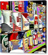 Oil Can Collection Acrylic Print