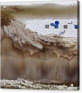 Oil-covered White Sands Of Orange Beach Acrylic Print