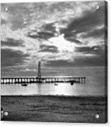 Oil Derrick - Point Loma From Coronado Beach San Diego C.1900 Acrylic Print