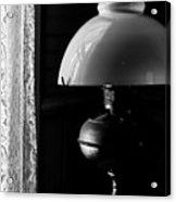 Oil Lamp On Table Acrylic Print