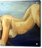 Oil Model Painting Acrylic Print