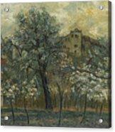 Oil Painting House Tree Acrylic Print