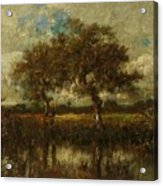Oil Painting Landscape Acrylic Print
