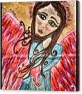 Oil Pastel Angel Acrylic Print