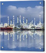 Oil Refinery Industry Plant Acrylic Print